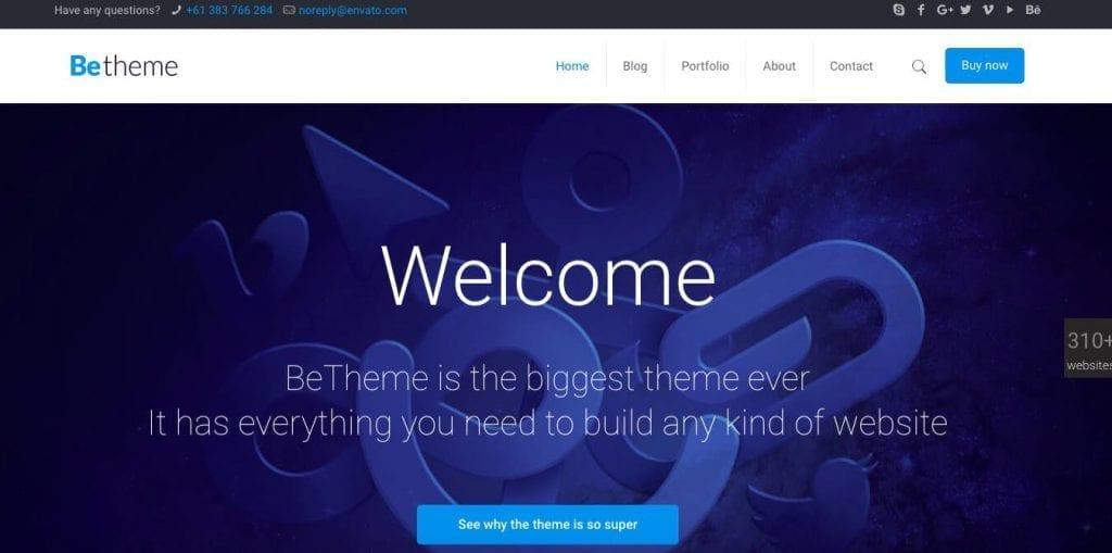 thème WordPress betheme