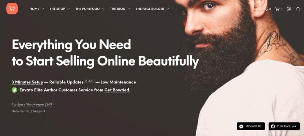 thème WordPress shopkeeper