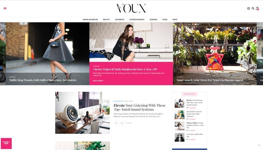 thème WordPress the voux