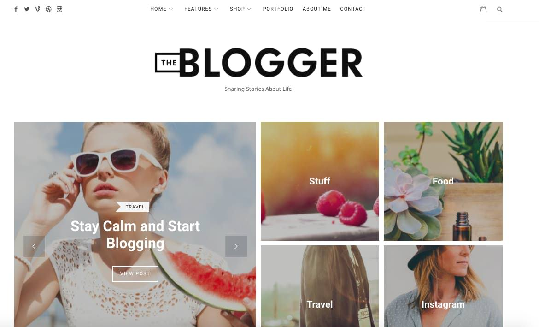 thème WordPress the blogger